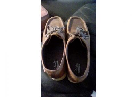 Brown Clarks wallabees size 5.5